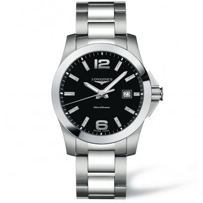 Longines Conquest L37594586 Water resistance 300M, Quartz, 41 mm