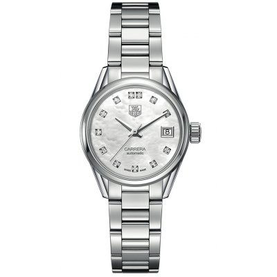 TAG Heuer Carrera Calibre 9 WAR2414.BA0776 Diamonds, Automatic, 28 mm