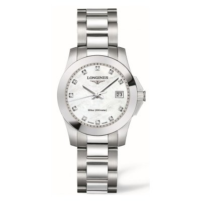 Longines Conquest L33764876 Diamonds, Quartz, Water resistance 300M, 29.50 mm