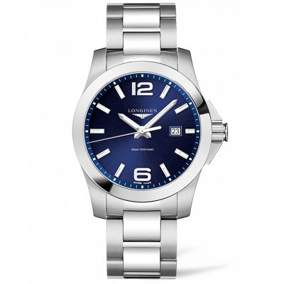 Longines Conquest L37604966 Water resistance 300M, Quartz, 43 mm