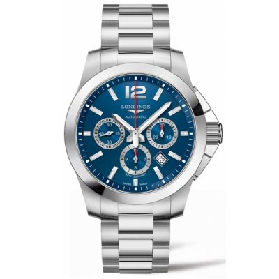 Longines Conquest L38014966 Water resistance 300M, Automatic Chronograph , 44 mm