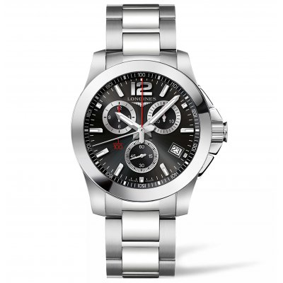 Longines Conquest L37004566 Water resistance 300M, Quartz Chronograph, 41 mm