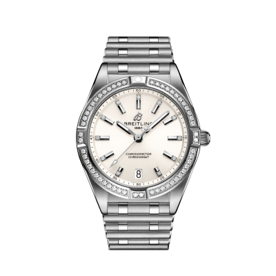 Breitling Chronomat A77310591A1A1 CHRONOMAT 32 Stainless Steel (Gem-set) - White